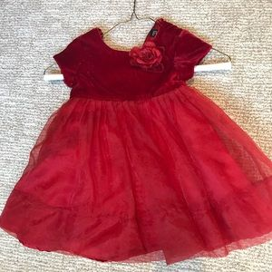 Adorable red Christmas dress 12 months